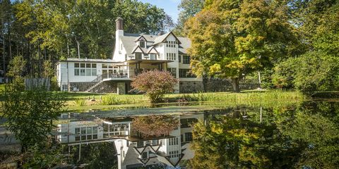 Property, House, Natural landscape, Home, Estate, Building, Tree, Cottage, Real estate, Mansion,