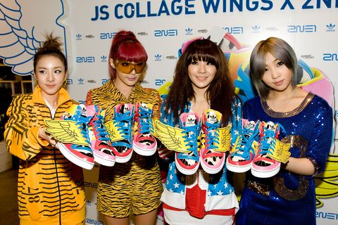 Adidas Originals collaborated with Jeremy Scott and launch 2ne1