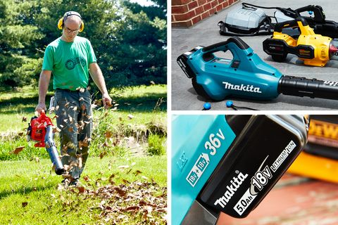 Battery-Operated Leaf Blower Testing