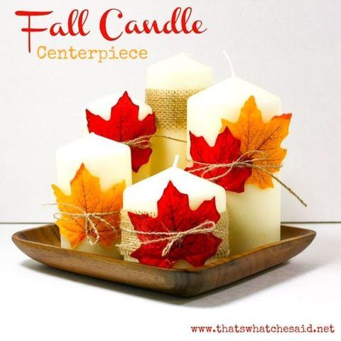 leaf fall candle centerpiece