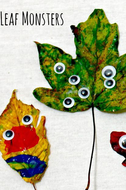 fall crafts for kids leaf monsters