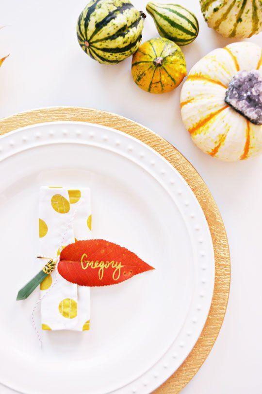 fall leaf craft leaf napkin ring