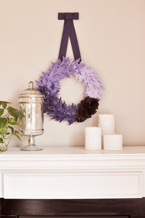 Purple Leaf Christmas Wreath