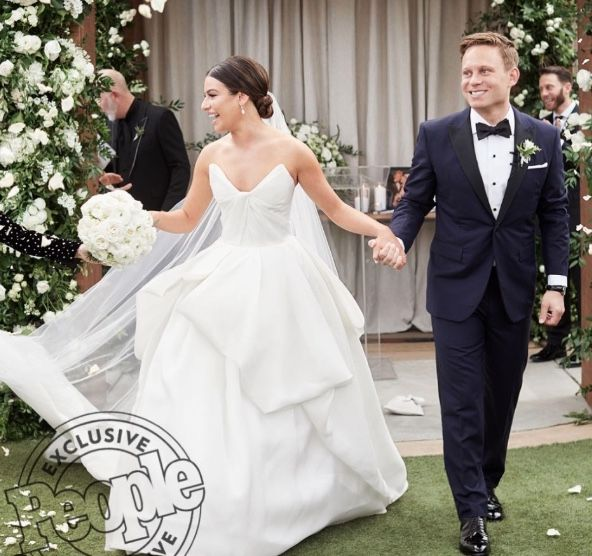 leah michele wedding dress