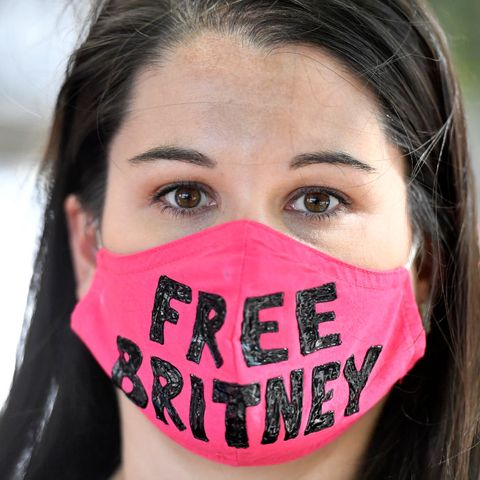 freebritney protest outside courthouse in los angeles during conservatorship hearing