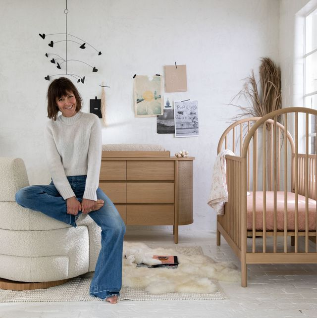 leanne ford shown in a room with her furniture designs