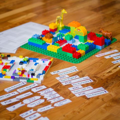 lego coding maze learning activity for kids