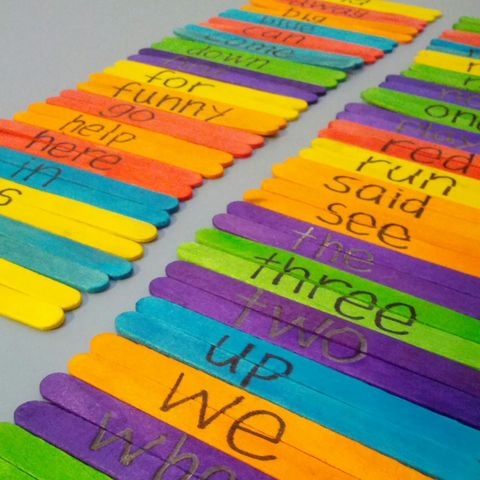 sight word popsicle puzzle