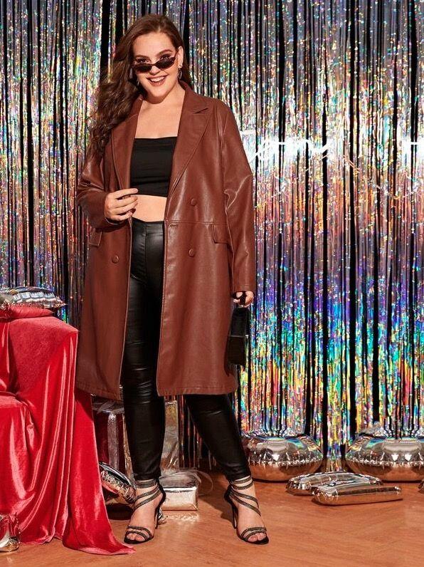 go nearly naked under leather coat