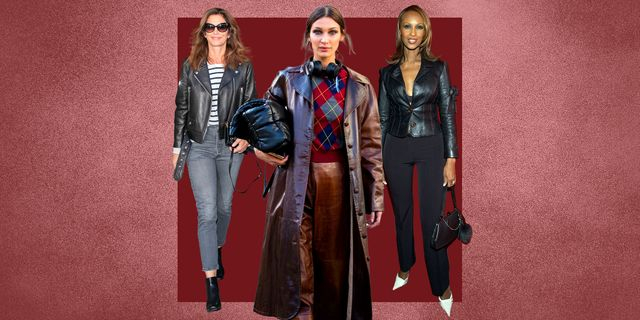 how to style a classic the leather jacket