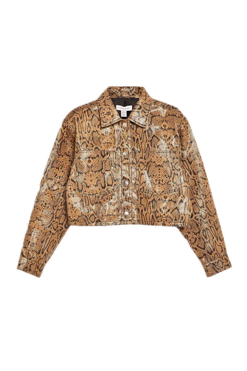 topshop boutique snake print jacket