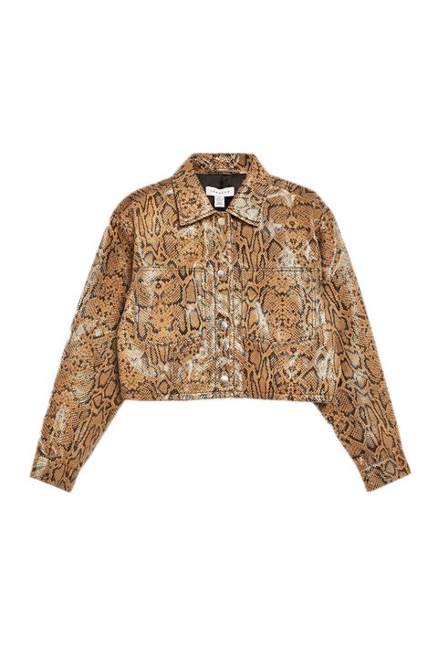 topshop boutique snake print jacket