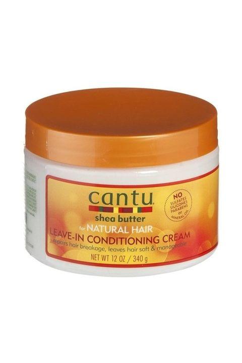 cantu leave in conditioning cream voor krul en kroes haar