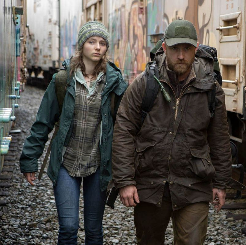 Leave No Trace Debra Granik directs this pensive, prickly character study about a father (Ben Foster) and daughter (newcomer Thomasin McKenzie) illegally living off the grid in Pacific Northwest national forests.