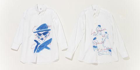 「ランバン オン ブルー」 佐伯ゆう子さんコラボレーションシャツ2種