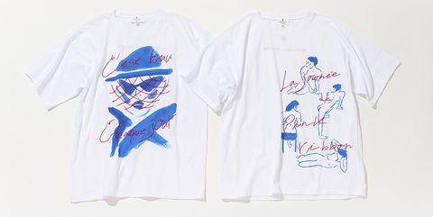「ランバン オン ブルー」佐伯ゆう子さんコラボレーションTシャツ2種
