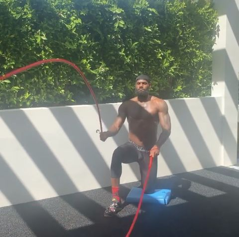 lebron james battle rope