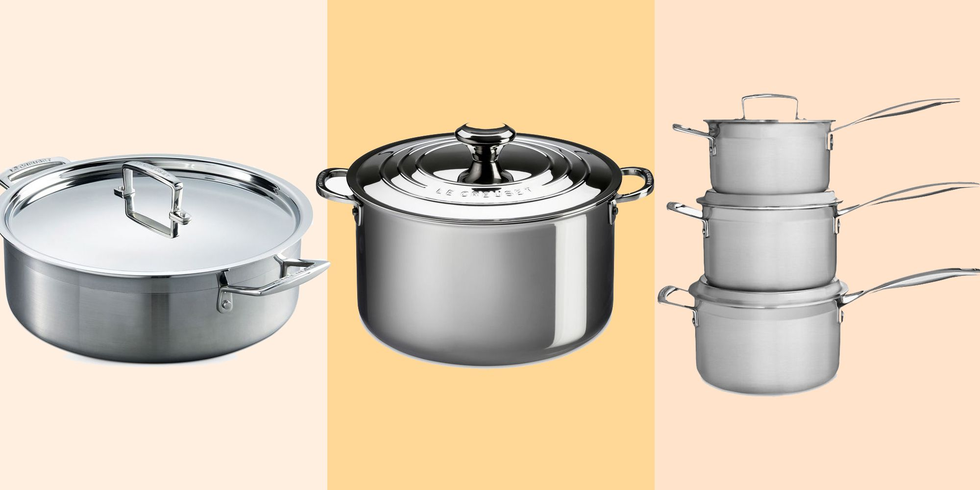 Le Creuset's stunning stainless steel range will transform your kitchen