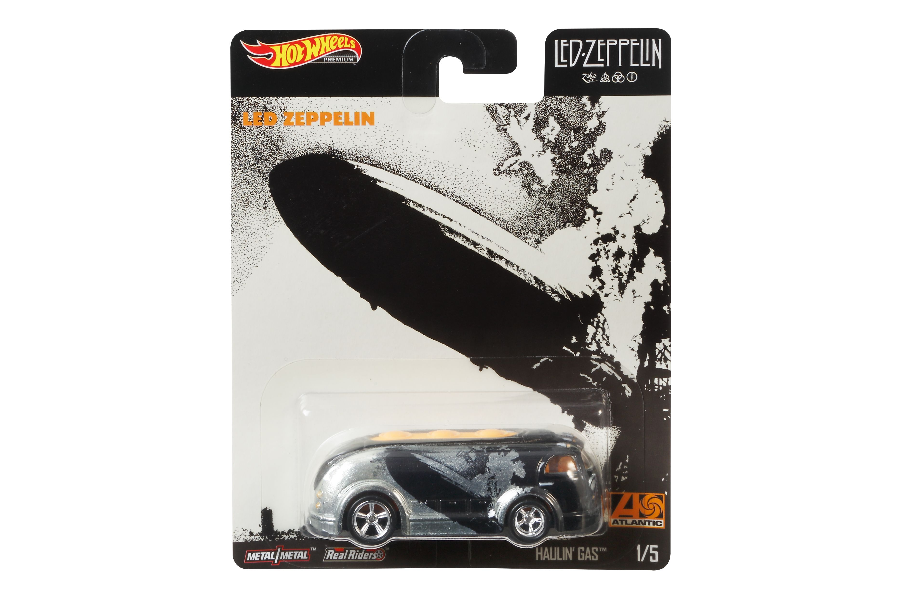 Hot Wheels Led Zeppelin Series Blimp HAULIN/' GAS  w// Real Riders