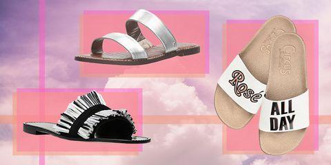Footwear, Pink, Shoe, Font, Sandal, Flip-flops, Illustration,