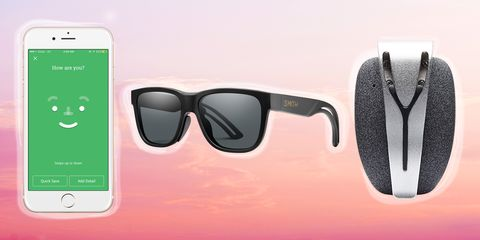Eyewear, Sunglasses, Glasses, Personal protective equipment, Pink, Vision care, Material property, Technology, Electronic device, Gadget,