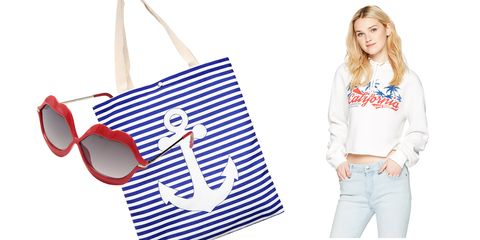 Clothing, White, Shoulder, Sleeve, Fashion accessory, Crop top, Handbag, Shorts, Bag, Electric blue,