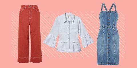 Denim, Clothing, Jeans, Pattern, Textile, One-piece garment, Pattern, Pocket, Fashion design, Dress,