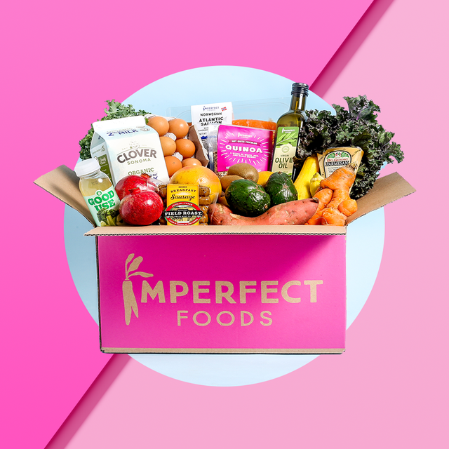 box of groceries from imperfect foods