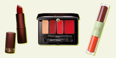 Red, Beauty, Orange, Product, Cosmetics, Lipstick, Material property, Tints and shades, Lip gloss,