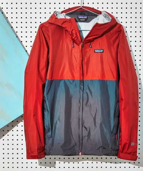 Clothing, Outerwear, Jacket, Red, Windbreaker, Hood, Zipper, Sleeve, Coat, Textile,