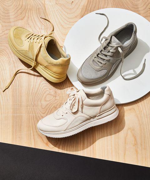 Shoe, Footwear, Sneakers, Plimsoll shoe, Oxford shoe, Athletic shoe, Walking shoe, Beige, Illustration, Nike free,