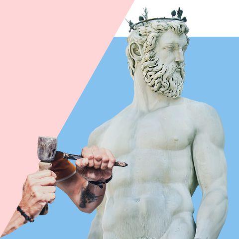 Sculpture, Statue, Art, Arm, Hand, Classical sculpture, Figurine, Muscle, Nonbuilding structure, Fictional character,
