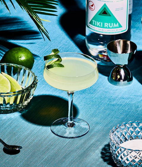 daiquiri cocktail with white rum, sugar and lime juice