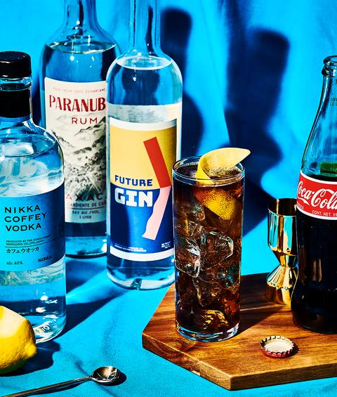 liquid, fluid, blue, drinkware, glass, bottle, drink, table, plastic bottle, coca cola,