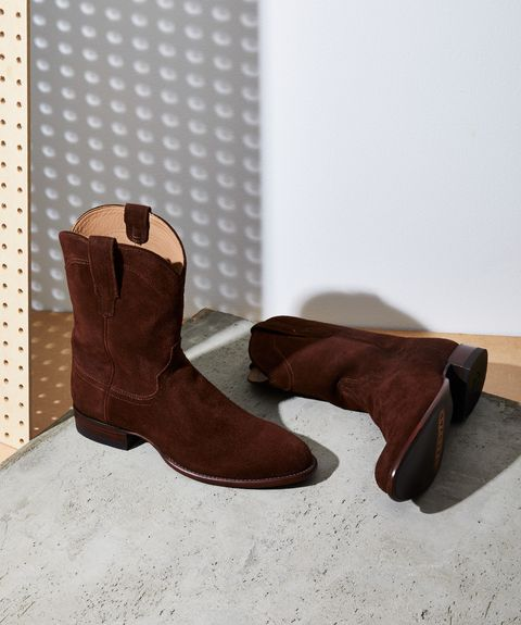 Footwear, Boot, Shoe, Brown, Tan, Durango boot, Cowboy boot, Snow boot, Leather, Suede,