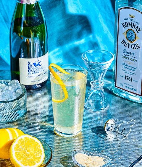 Drink, Alcoholic beverage, Distilled beverage, Liqueur, Bottle, Gin and tonic, Paloma, Lemon-lime, Spritzer, Vodka and tonic,