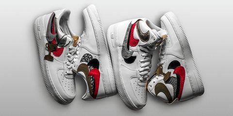 Footwear, White, Shoe, Red, Sneakers, Carmine, Silver, Athletic shoe, Walking shoe, Sportswear,