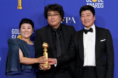 bong joon ho parasitos77th Annual Golden Globe Awards - Press Room