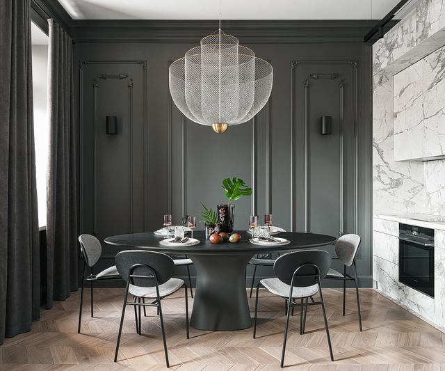 apartamento elegante con paredes de mármol blanco diseñado por leftdesign