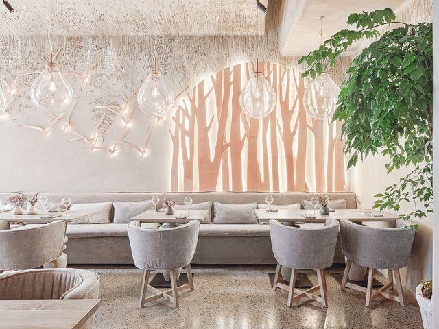 restaurante inspirado en la naturaleza diseñado por leftdesign