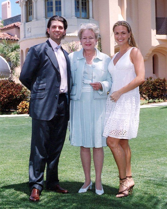 Donald Trump Jr, Judge Maryanne Trump Barry, and Vanessa Kay Haydon Trump during 2006 Easter celebrations at Mar-a-Lago.