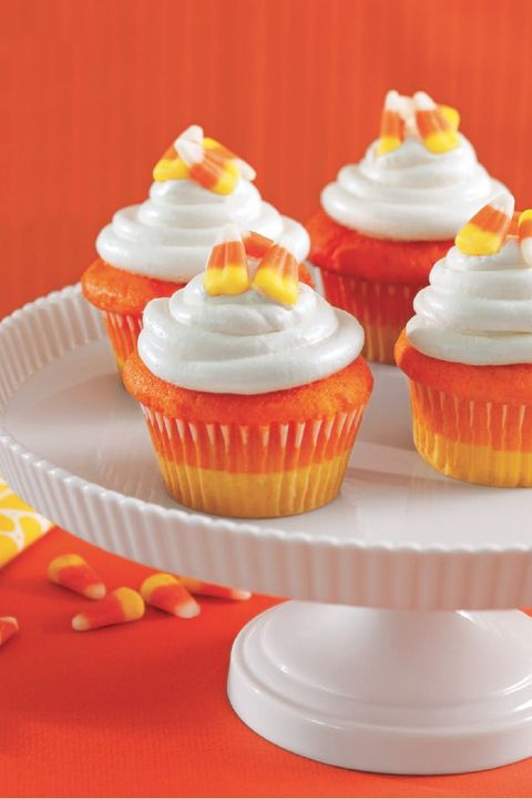 leftover halloween candy recipes candy corn cupcakes