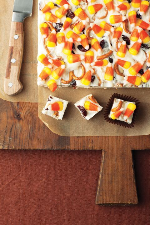 leftover halloween candy recipes candy corn fudge
