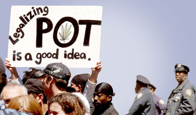404928 01 hundreds of pro cannabis demonstrators march may 4, 2002 in new york city the marchers, who advocate for the legalization of cannabis, were part of almost 200 similar events planned around the world may 4 under the name of the million marijuana march in new york, the pro cannabis movement has been galvanized by current mayor michael bloombergs assertion that he had smoked marijuana and liked it photo by spencer plattgetty images