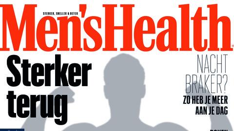 op de cover van men's health