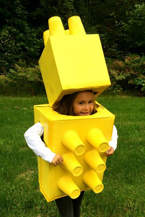 Lego Blocks Diy Halloween Costume For Kids
