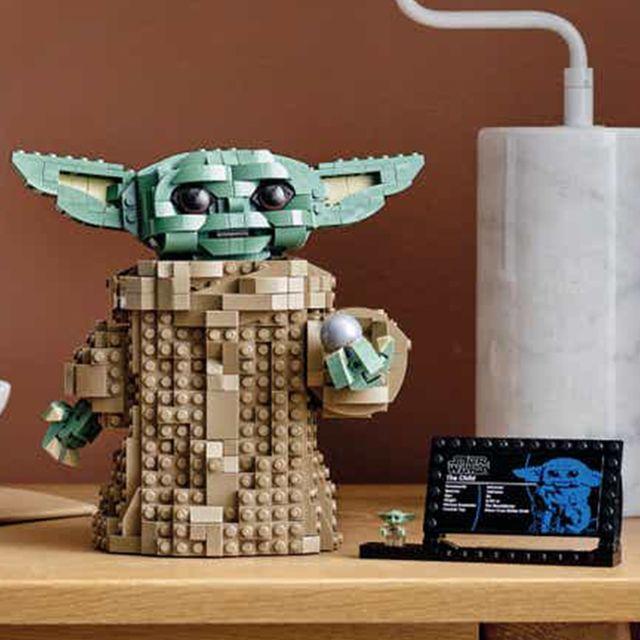 lego baby yoda building set from 'star wars'