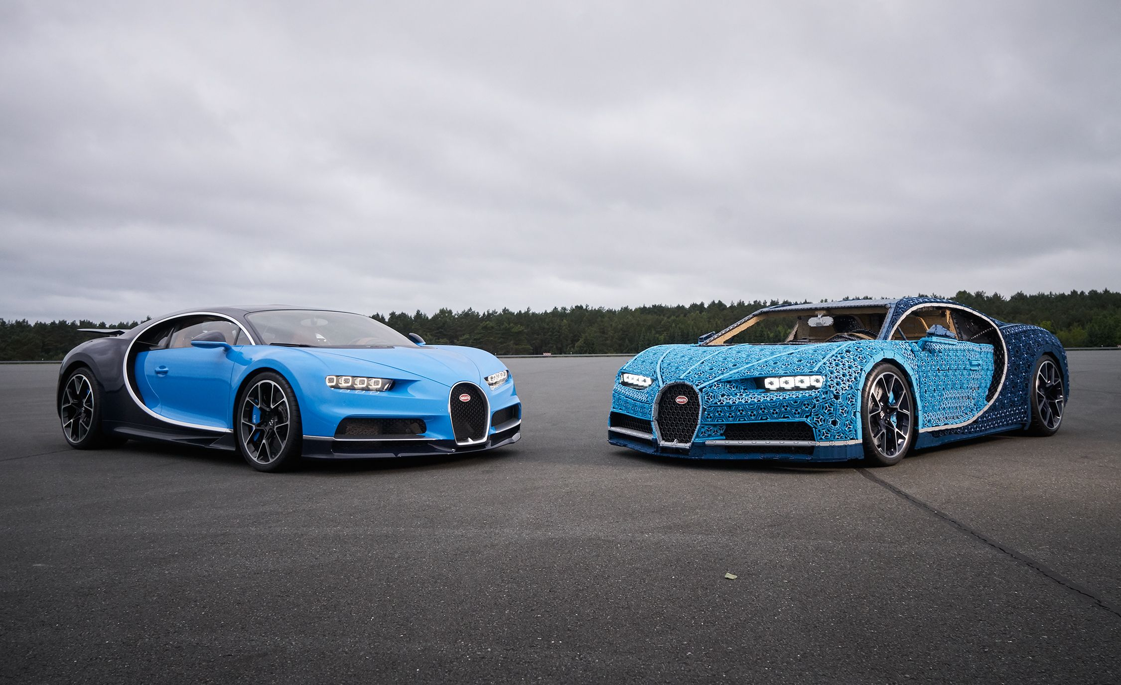 This Drivable Lego Bugatti Chiron Has 2304 Electric Motors And One Million Pieces