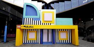 House of Dots: una casa interactiva llena de color de Camille Walala para LEGO