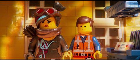 Toy, Cartoon, Lego, Animated cartoon, Animation, Yellow, Fictional character, Figurine,
